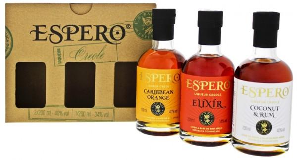 Espero Creole Liqueur Giftset (Orange/Coconut&Rum/Elixir) 0,6 Liter
