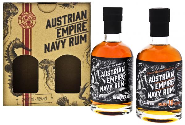 Austrian Empire Navy Rum Reserve 1863 + Solera 18YO 0,4 Liter 40%