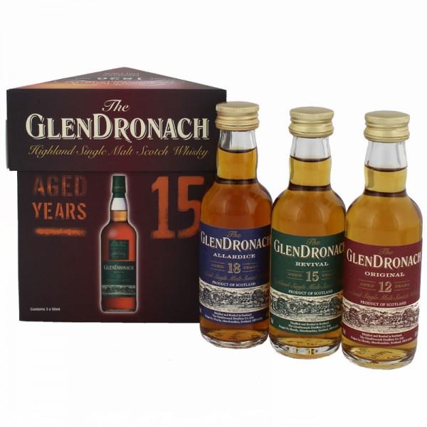 Glendronach Miniaturset 3 x 0,05 Liter
