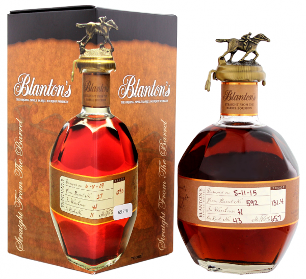 Blanton´s Single Barrel Cask Strength 0,7 Liter 65.7%