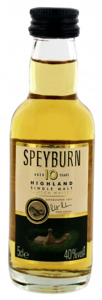 Speyburn 10YO Single Malt Scotch Whisky 0,05 Liter 40%