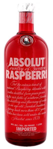Absolut Vodka Raspberri 1 Liter