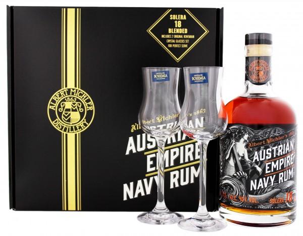 Austrian Empire 18YO Navy Solera inkl. 2 Gläser 0,7 Liter 40%