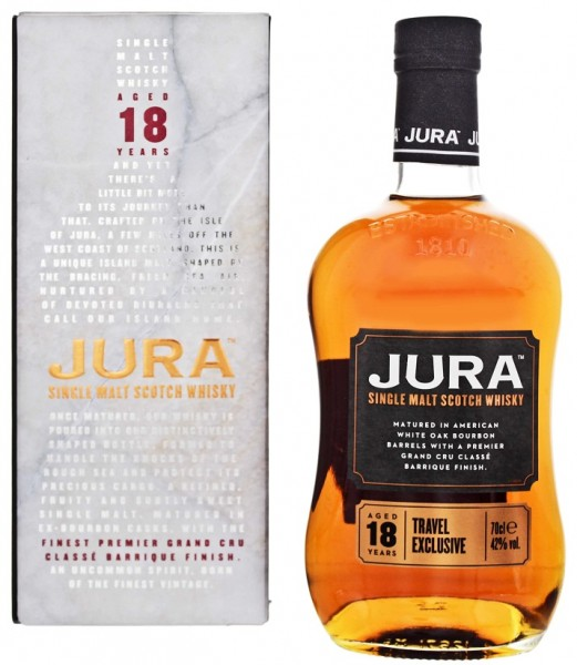 Isle of Jura 18YO Travel Exclusive Single Malt Scotch Whisky 0,7 Liter 42%