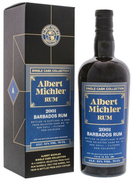 Albert Michler Barbados 2001/2020 Single Cask Collection Rum 0,7 Liter 51%