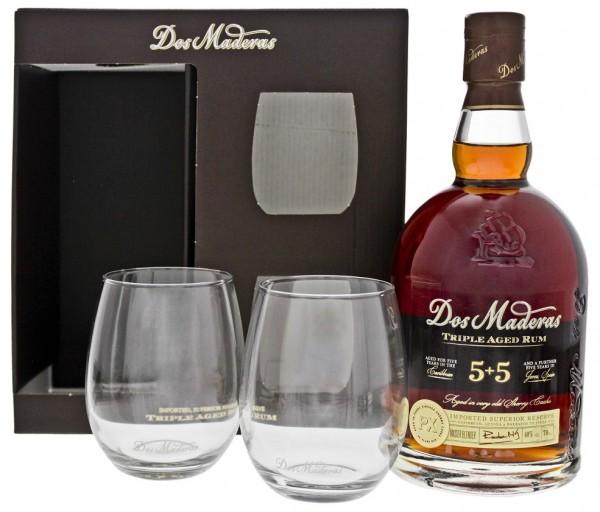 Dos Maderas Triple Aged Rum (ehem. PX 5+5YO) mit 2 Gläsern 0,7 Liter 40%