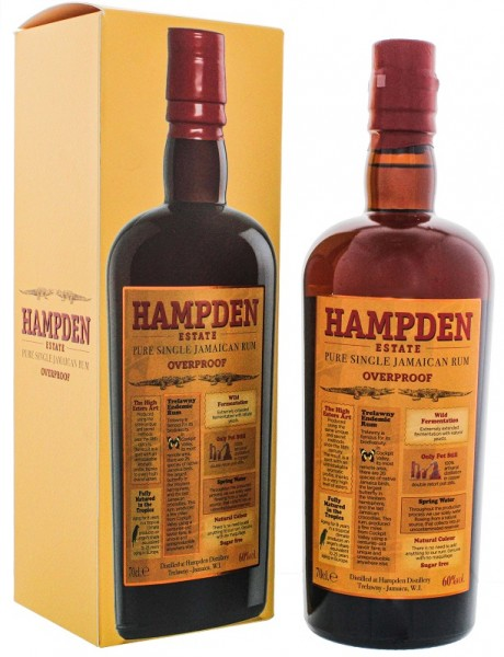 Hampden Estate Pure Single Jamaican Overproof Rum 0,7 Liter 60%