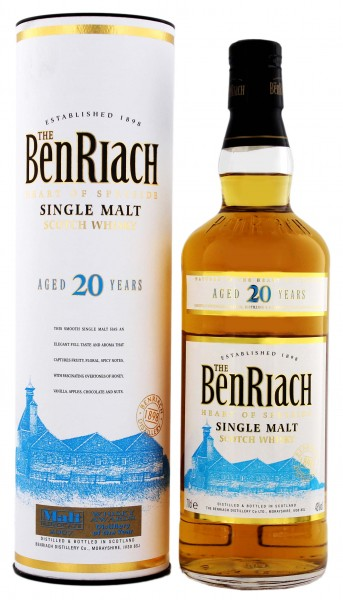 BenRiach 20YO Malt Whisky 0,7 Liter 43%