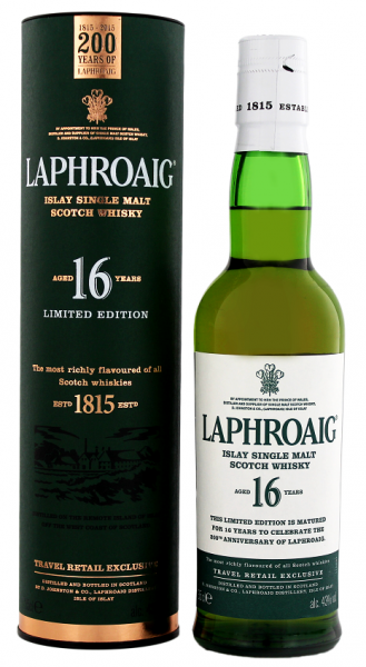 Laphroaig 16YO Islay Single Malt Scotch Whisky 0,35 Liter