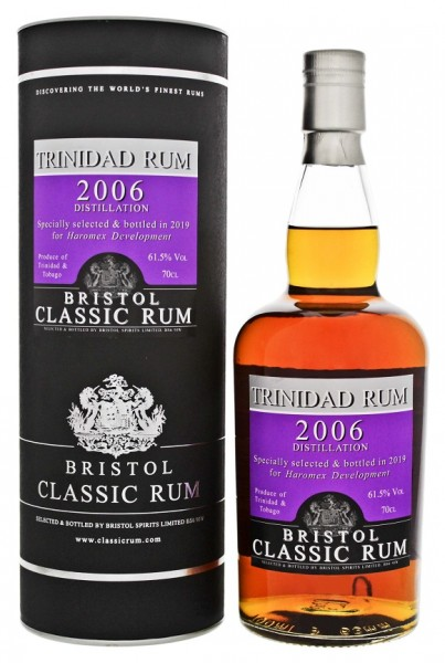 Bristol 2006/2019 Trinidad & Tobago Rum Cask 472/2 0,7 Liter 61,5%