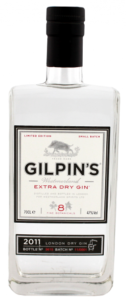 Gilpin's Westmorland Extra Dry Gin 0,7 Liter