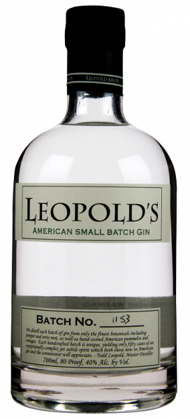 Leopold's American Small Batch Gin 0,7 Liter