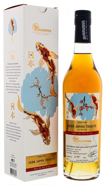 Savanna 6YO (2019) Vieux Herr Japan Tribute Single Cask Agricole Rhum 0,5 Liter 56,4%