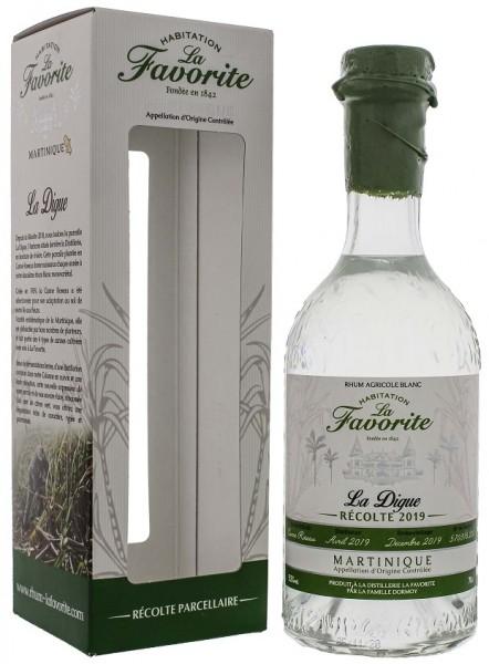 La Favorite La Digue Recolte 2019 Blanc Agricole Rhum 0,7 Liter 52%