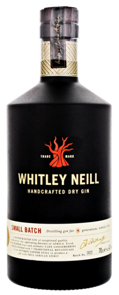 Whitley Neill Handcrafted Dry Gin 0,7 Liter 43%