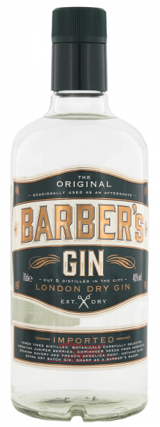 Barbers London Dry Gin 0,7 Liter 40%